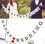 JINSELF フラッグガーランド2組 バナー 結婚式やパーティーで華やかな飾り付け 記念写真にも ウェディング インテリア 【JUST MARRIED/HAPPY WEDDING】