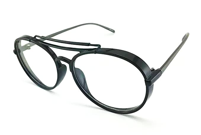 5b469dce8b Image Unavailable. Image not available for. Color  CY SUN CLASSIC VINTAGE  RETRO BLINDER Style Clear Lens EYE GLASSES ...