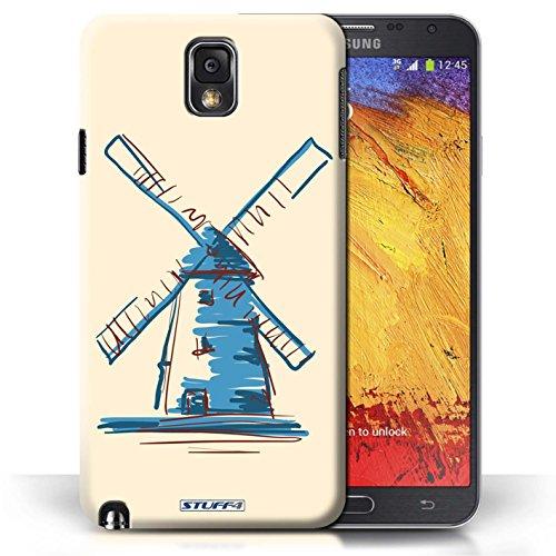 Etui / Coque pour Samsung Galaxy Note 3 / Moulin/Hollande conception / Collection de Monuments