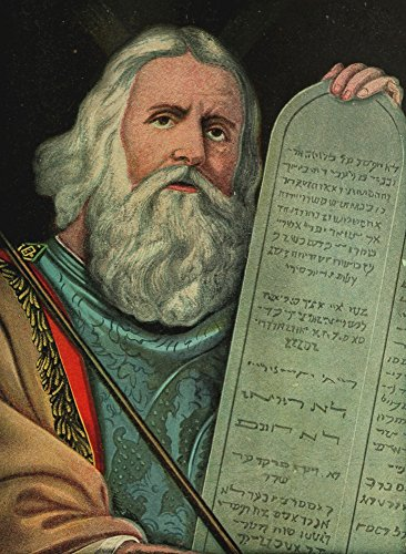 Captivating Bible Stories 1913 Moses & Ten Commandments Poster Print by Unknown (18 x -