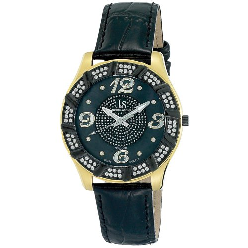 Joshua & Sons Men's JS-17-YG Swiss Quartz Diamond Watch