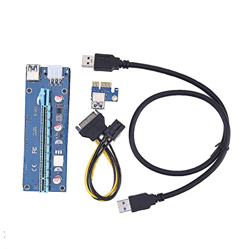 T-Module PCI-E Express 1x to 16x Powered Riser Cables 0 6m