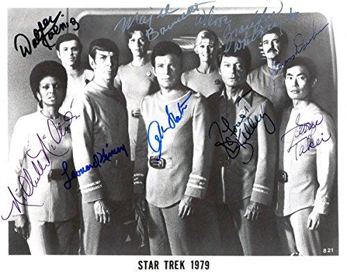 (Star Trek early cast reprint signed photo #2 Shatner Nimoy + RP)