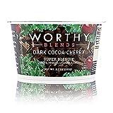 vanilla soy yogurt - Worthy Super Blendies - Delicious Plant-Based Vegan Superfood. Healthy, Convenient, 3 Serv Fruit & Veggie, 11g Protein, 12 g Fiber. Dairy, Gluten, Nut, Soy Free (Dark Cocoa Cherry, 8.2oz, 6/case)