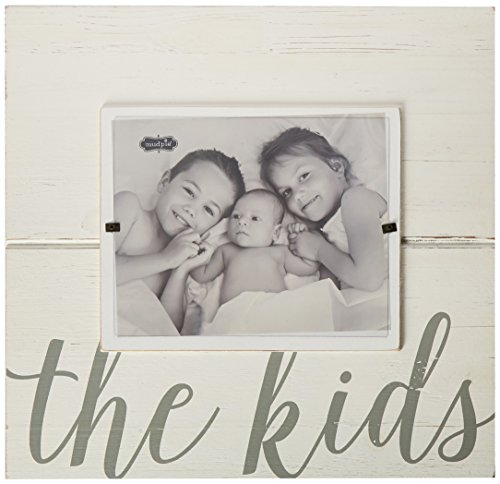 Mud Pie Distressed White-Washed Wood Kids Sentiment Frame 8