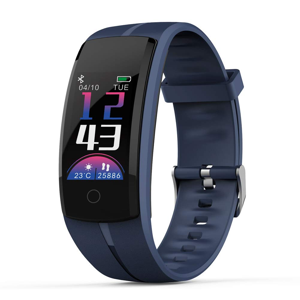 HHRONG Sleep Monitoring Smart Bracelet, 0.96-inch Color Screen Activity Tracker Smart Watch, Ip67 Waterproof for Android iOS-Blue by HHRONG