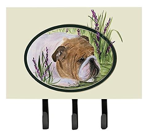 Caroline's Treasures SS8023TH68 English Bulldog Leash Holder or Key Hook, Large, Multicolor - Bulldog Leash Hook