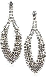"Leslie Danzis 3.5"" Gunmetal Oversize Statement Earrings"