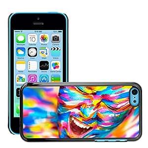 Print Motif Coque de protection Case Cover // V00001709 brillante retrato hermosa niña // Apple iPhone 5C
