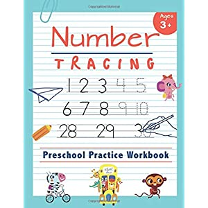 number tracing preschool practice workbook learn to trace numbers 1 20 essential