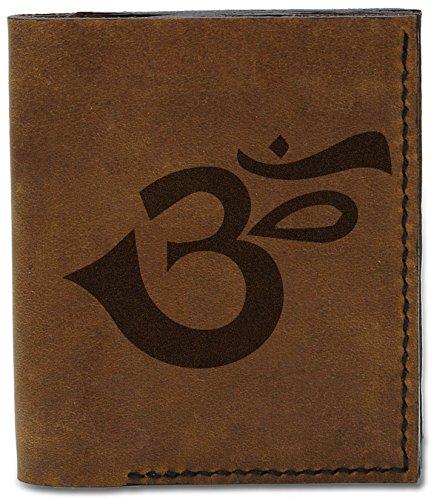 Handmade Om Men's Genuine Buddhish b 04 Wallet Natural Buddhish Signs 16 Signs Leather Om MHLT TwtvqtA4