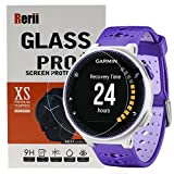 Rerii [2-Pack] Garmin Forerunner 220 230 Tempered Glass Screen Protector, High Definition, 9H Hardness, 0.3mm Thickness, Shatterproof, Delicate Touch,Real Glass
