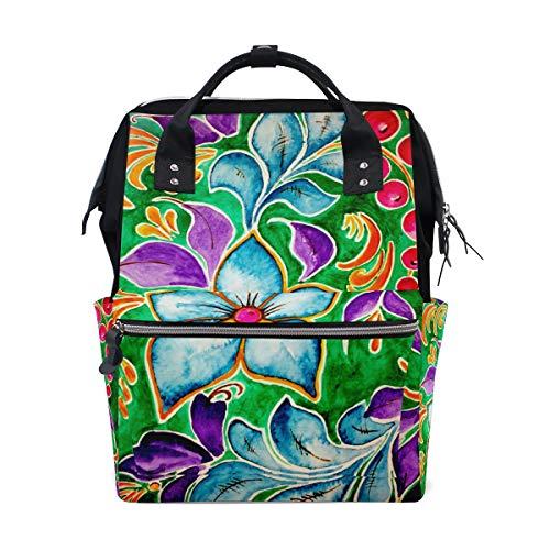 Art Retro Sunflower Bag Backpack Large Capacity Muti-Function Travel Canvas Bag for Mummy Women Multi9