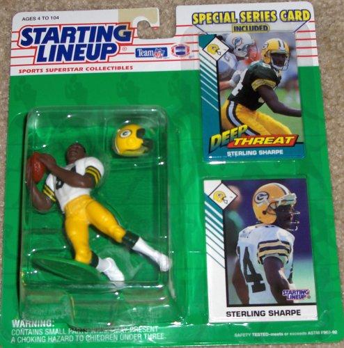 1993 Sterling Sharpe Green Bay Packers Kenner SLU Starting Lineup NFL Football Figure