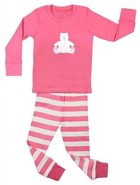 "Elowel Little Girls ""Teddy Bear"" 2 Piece Pajama Set Cotton ..."