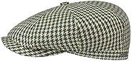 Stetson Men's Cotton Linen Houndstooth Hatteras Cap Beige-G