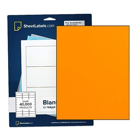 Amazon.com: Papel adhesivo fluorescente naranja, etiquetas ...