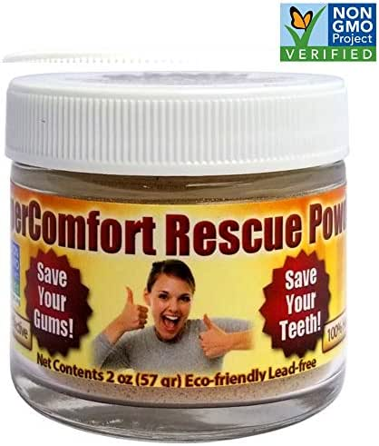 Gum Recession Rescue Tooth Powder - Helps Remove Plaque, Helps Prevent Gingivitis, Helps with Bleeding Gums & Gum Sensitivity, Helps with Inflammation, Helps Prevent Cavities, Helps Receding Gums