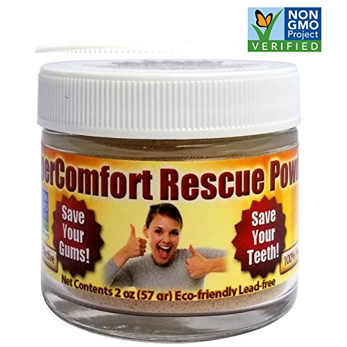 Gum Recession Rescue Tooth Powder - Helps Remove Plaque, Helps Prevent Gingivitis, Helps with Bleeding Gums & Gum Sensitivity, Helps with Inflammation, Helps Prevent Cavities, Helps Receding Gums (Comfort Gel Tooth Oral)