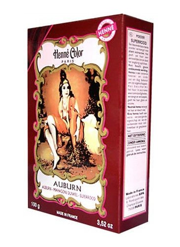 henn color poudre colorante auburn 100g - Coloration Henn Acajou