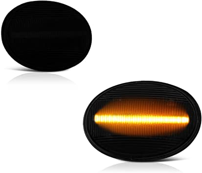 Driver /& Passenger Side VIPMOTOZ Rear Wheel Arch Full LED Dark Smoke Side Marker Light Lamp Assembly Replacement Pair For Mini Cooper R55 R56 R57 R58 R59 R60 R61