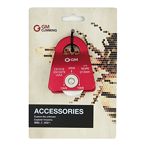 GM CLIMBING 20kN UIAA Certified Black Micro Prusik Minding Pulley 1/2""