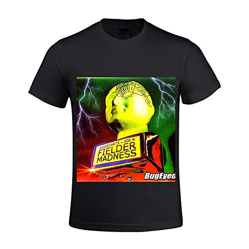 Fielder Madness Kickstarts, Joe K Men Crew Neck Mens Cotton T Shirts Black