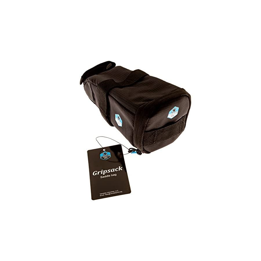 Bike Saddle Bag | GRIPSACK by Freedom Bike | Secure Three Point Strap Attachment | Pull Out Drawer for Quick Easy Access | Bicycle Seat Pack | Lightweight and Water Resistant