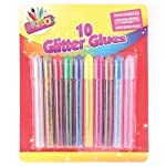 Home Fusion 10 x Childrens Kids Glitter Glue Art Craft Pens! Gold Silver Red Green Pink Blue +