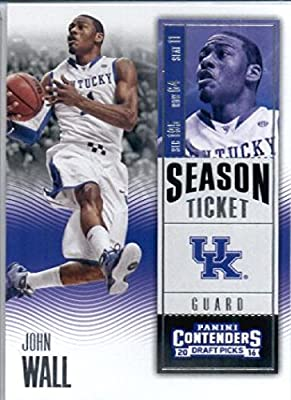 2016-17 Panini Contenders Draft Picks #46 John Wall Kentucky Wildcats Basketball Card in Protective Screwdown Display Case
