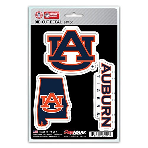 NCAA Auburn Tigers Team Decal, Pack of - Outlet Auburn