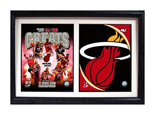 - Encore Select 122-19 NBA Miami Heat Greats Double Frame, with Two Images, 12-Inch by 18-Inch