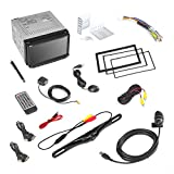 Pyle PLDNANDVR695 - GPS Android Car Stereo Double Din DVR Dash Cam Backup Camera Kit- DVD, Navigation, Hands free Bluetooth USB SD Reader