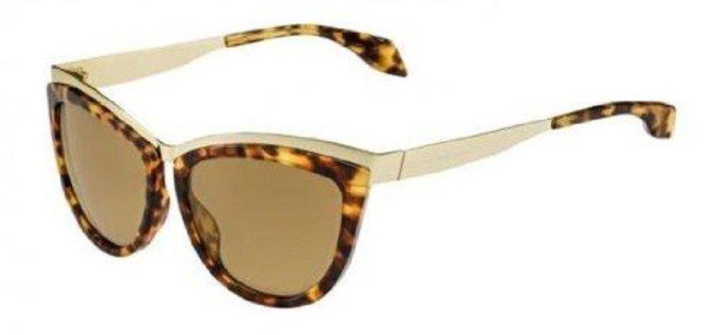 Alexander McQueen 4251/S Sunglasses 08JC H0 Gold-Havana / Brown Lens 57 MM