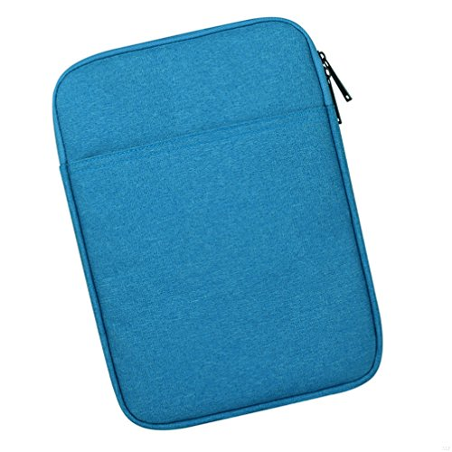 SLBGADIEME Pouch Tablet Zipper Sleeve Notebook Bag 10 Inch 10 Ipad Carrying Case Notebook Tablet Bag Laptop 10 Bag Zipper Case With Pockets 10 Tablet Carrying Case Notebook Zipper Bag Blue 8 Inch