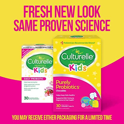 517CUij2 SL. AC - Culturelle Kids Chewable Daily Probiotic For Kids - Natural Berry - Supports Immune, Digestive, And Oral Health - For Age 3+ - Gluten,Dairy,Soy-Free - 30 Count (AMR-028)