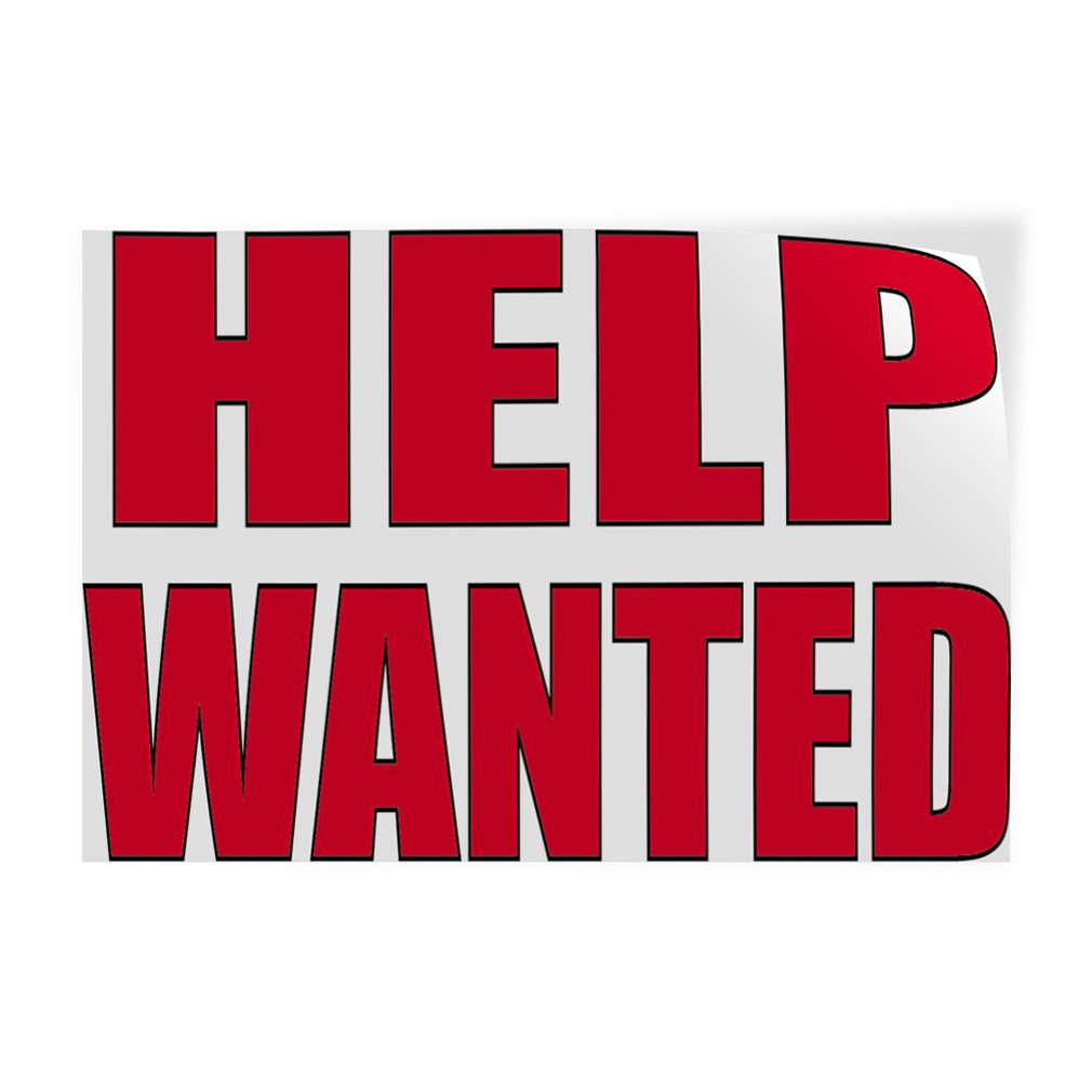 Decal Sticker Multiple Sizes Help Wanted #2 Business Help Outdoor Store Sign White One Sticker 69inx46in