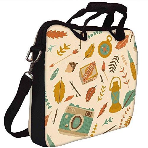 Snoogg Reisenden Pattern Gedruckt Notebook-Tasche mit Schultergurt 13 bis 13,6 Zoll