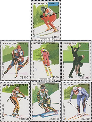 Nicaragua 2951-2957 (Complete.Issue.) 1989 Olympics Winter Games 1992 (Stamps for Collectors) Winter Sports