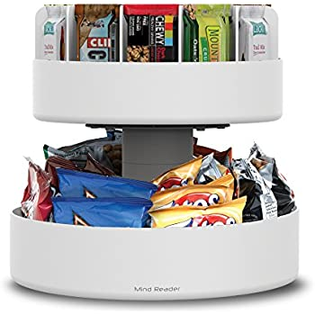 Amazoncom Mind Reader 2 Tier Lazy Susan Granola Bar And Snack