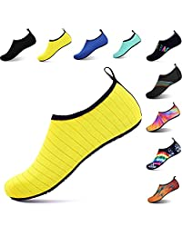 OOLIVUPF Womens Mens Water Sports Shoes Barefoot Beach Pool Shoes Quick Dry Aqua Yoga Socks Shoes(FBA)
