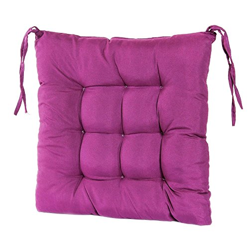 Pad Garden Chair (AccMart Seat Cushion, Garden Patio Kitchen Office Chair Seat Cushion, Seat Pads, Indoor Chair Pads, Winter Thickening Chair Cushion Soft Home Decor Outdoor Furniture Dining (Purple))