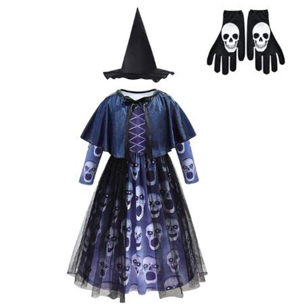 ZYH994 Scary Witch Horror Dress Disfraz de Esqueleto de Bruja para ...