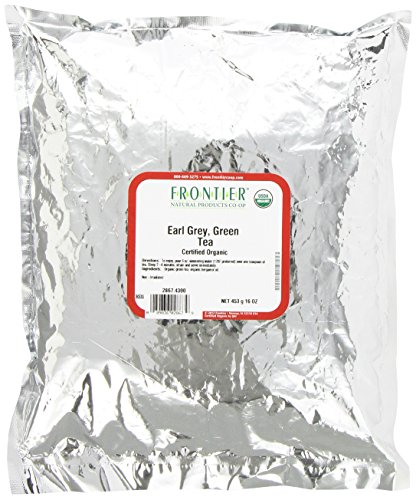 Frontier Fair Grade Earl Grey Green Tea, Certified Organic, 16-Ounce Bag
