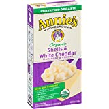 Annie's Homegrown Organic Shells & White Cheddar-6oz -Pack of 4