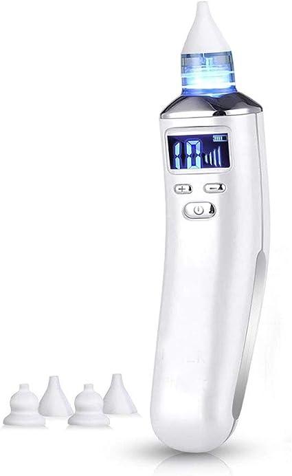 Futurehom Nasale Neonato Aspiratore Nasale Elettrico Aspirapolvere Muco Pulizia Naso Pulitore per Naso Ugello Sostituibile USB di Ricarica 5 Livelli