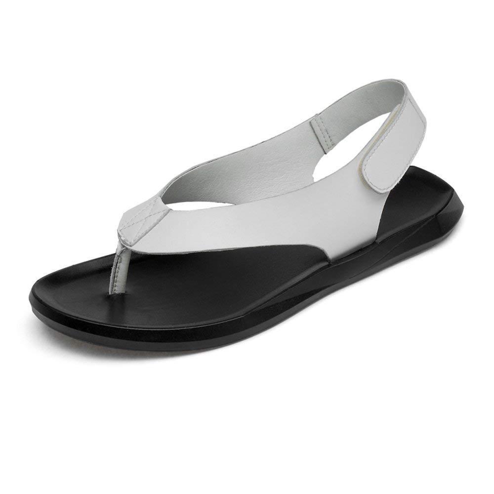Sandalen 2018 FuweiEncore Echtes Männer EU) 45 Größe Weiß