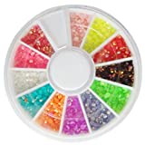 Accessories for beautiful nails 3D New Hot Nail Art Rhinestones Glitters Acrylic Tips Decoration Manicure Wheel#8