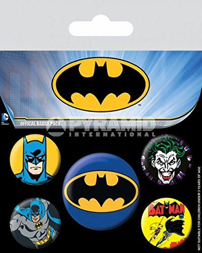 AMBROSIANA Pyramid International Batman badge, multicolore, 10 x 12.5 x 1.3 cm BP80439 Gadget