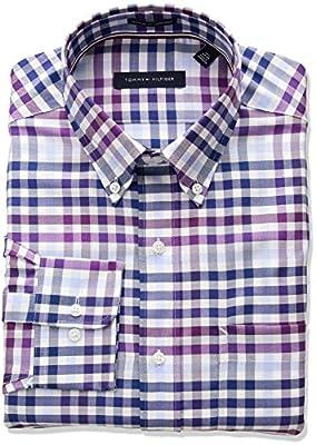 Tommy Hilfiger Men's Non Iron Regular Fit Plaid Dress Shirt